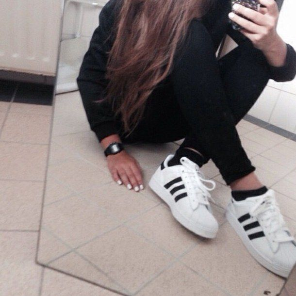 adidas, beauty, blogger, boyfriend, cozy, fall, fashion, girl,. Grunge Hair Sneakers StyleTumblr ...