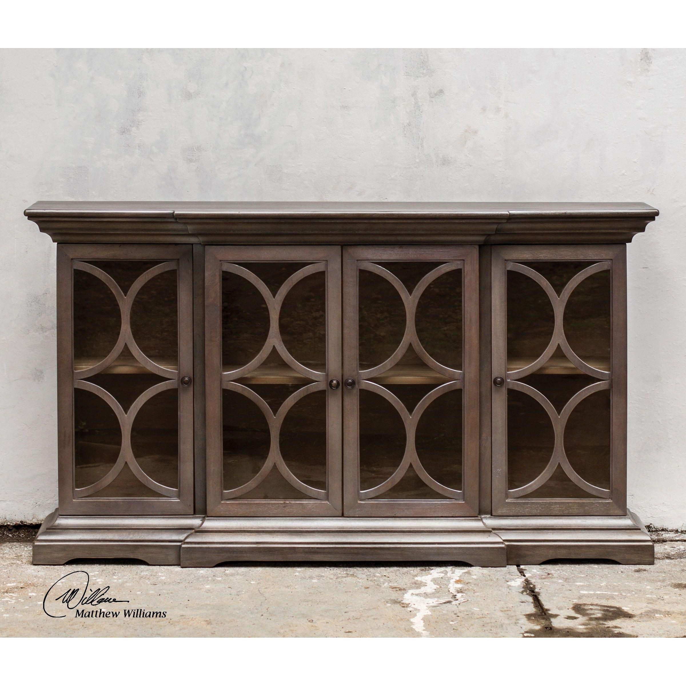 Uttermost belino wooden 4 door accent cabinet
