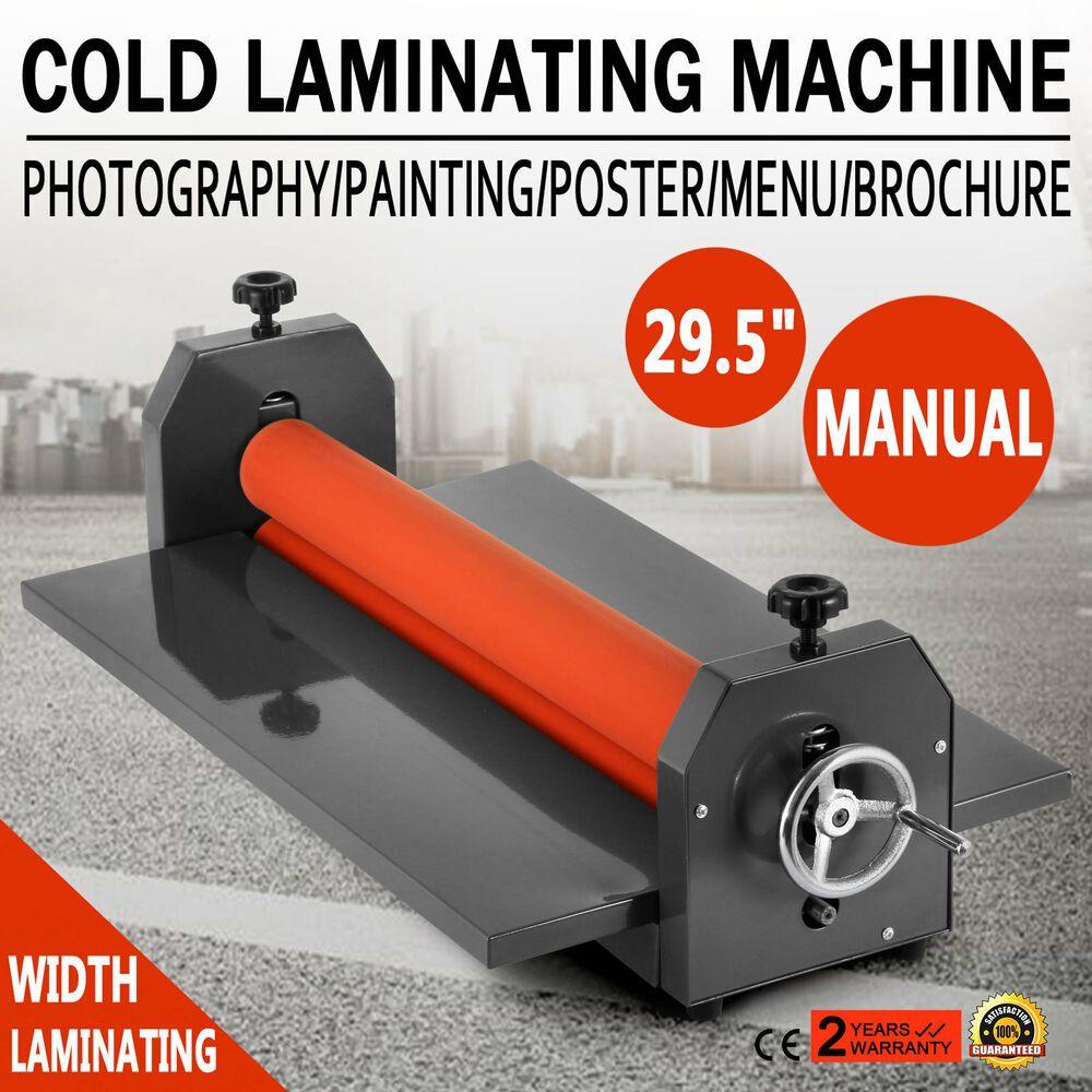 29 5 750mm Kaltlaminiergerat Cold Laminator Manual Mounting Desktop Postern Desktop Laminieren Ebay
