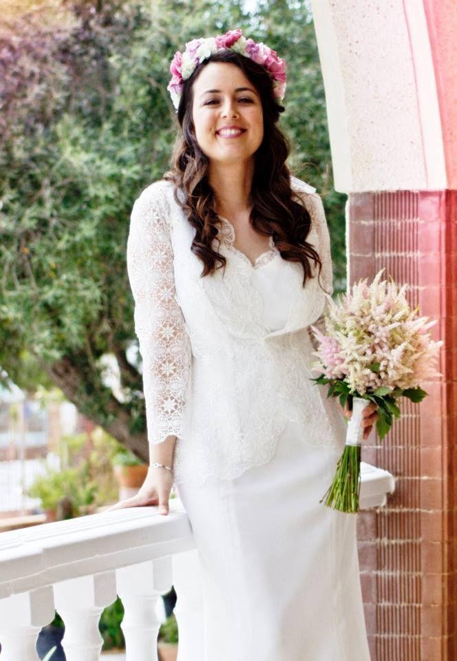 raquel alemañ novias .precioso vestido de novia vintage