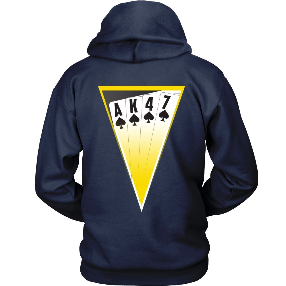 AK-47 T-Shirt - Playing cards - Design on Back