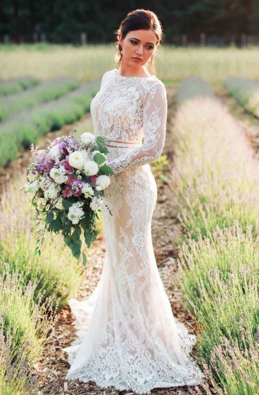 Pin By Brides By Liza On Wedding Gowns Long Sleeve Wedding Dress Lace Long Sleeve Mermaid Wedding Dress Wedding Dresses [ 1337 x 875 Pixel ]