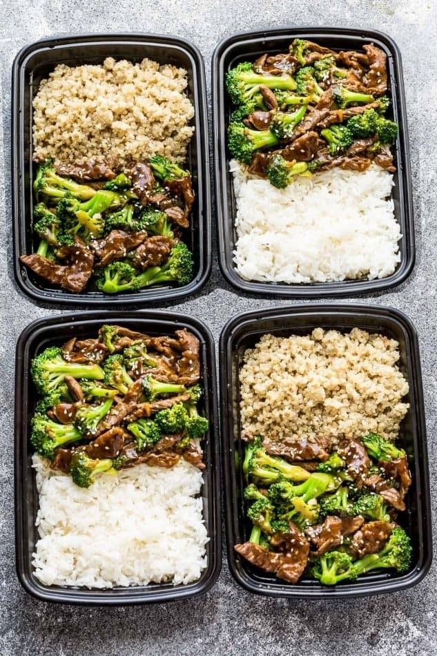 Beef And Broccoli Meal Prep Bowls Dinner Meal Prep Meal Prep Clean Eating Healthy Lunch