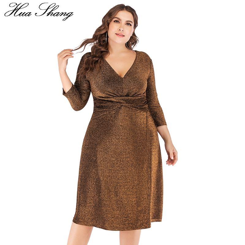 b8b816b4f33 Sequined Party Dresses For Evening 2018 Women V Neck Three Quarter Sleeve  High Waist Midi Dress