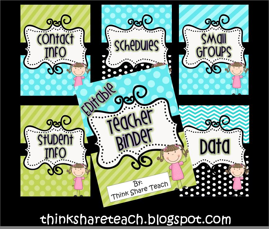 Editable Teacher Binder....everything Is In Here....FREE