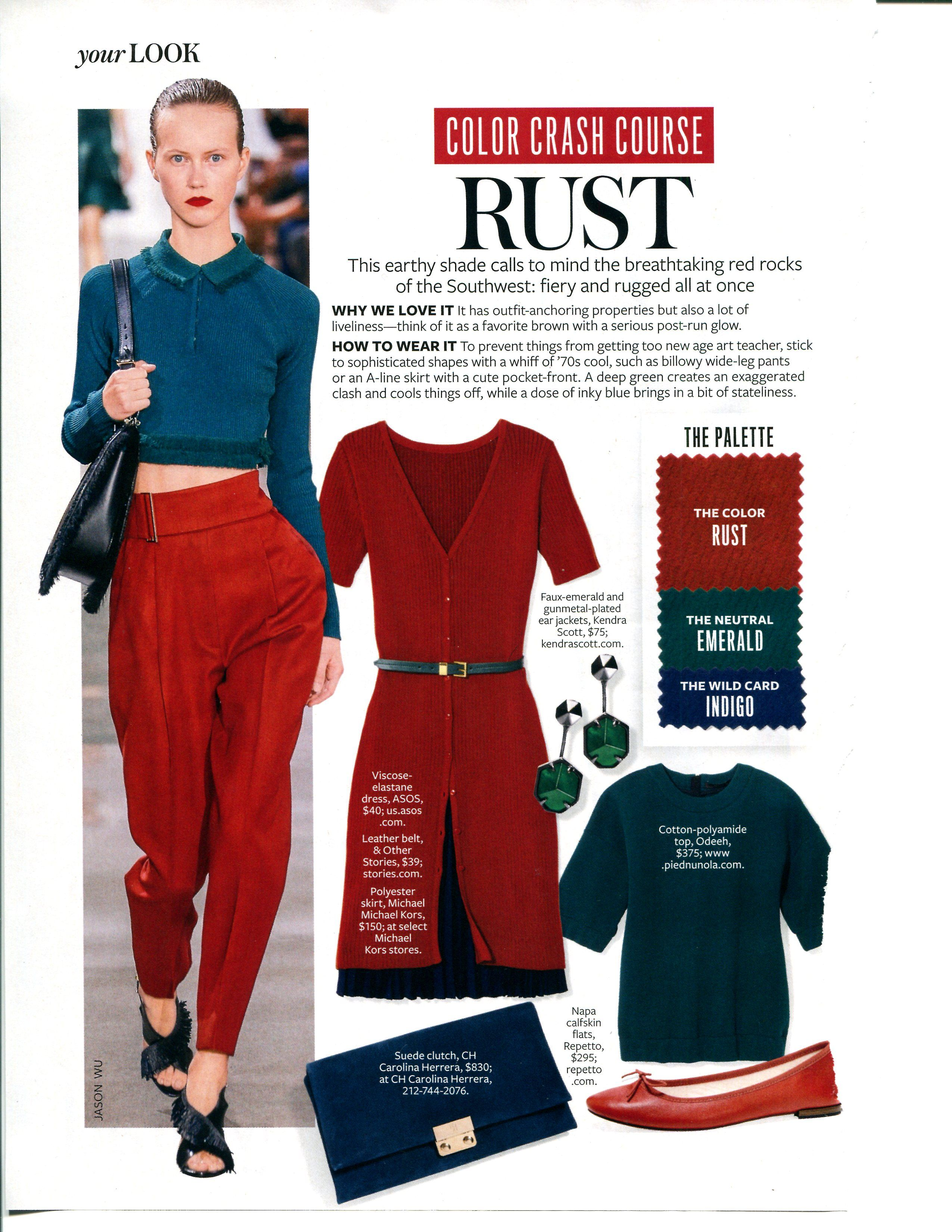 Tobacco | Colour combinations fashion, Instyle color crash