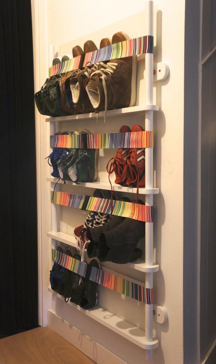 Rangement chaussures original en 33 id es super cr atives - Fabriquer un meuble a chaussure ...