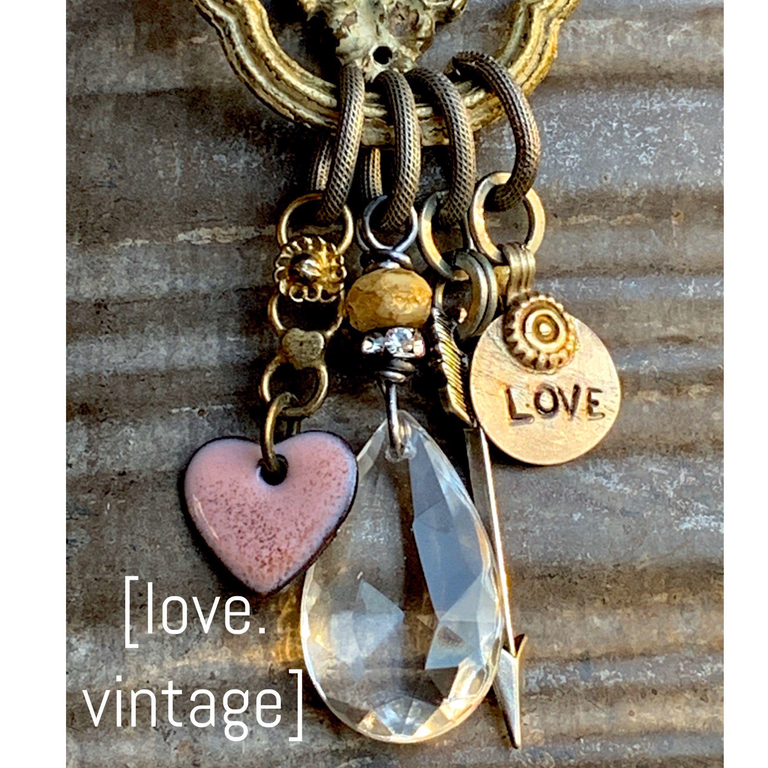 Excited to share this item from my #etsy shop: Vintage Love #enamelheart #vintagejewelry #love #repurposedvintage #vintagehardware