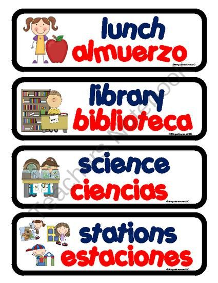 Dual Language Daily Schedule Cards from Bilingualtreasures on ...