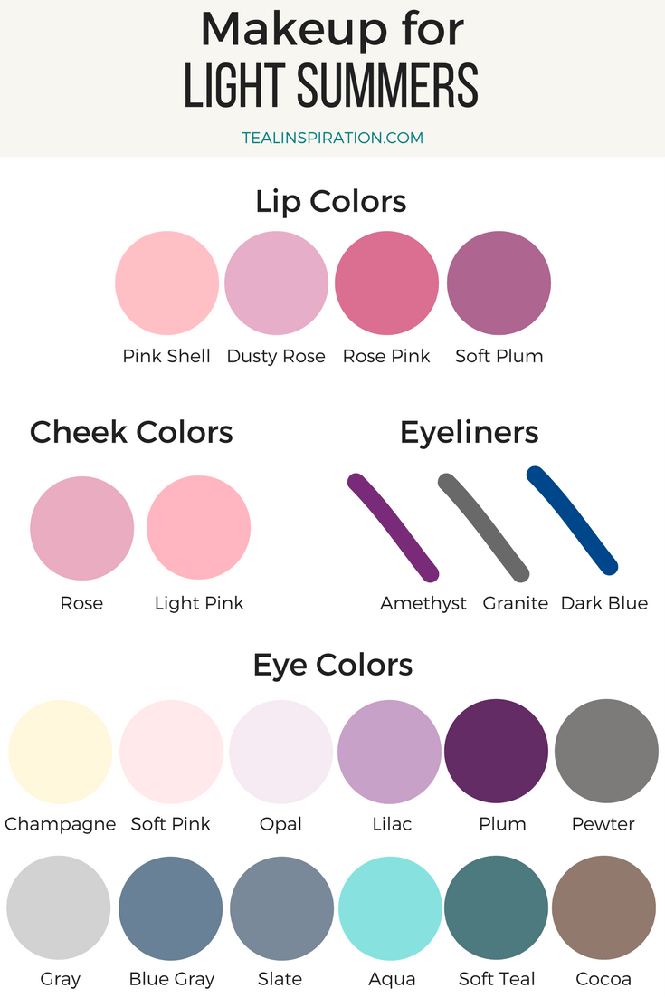 Makeup Colors For Summers Soft Summer Palette Light Summer Color Palette Soft Summer Color Palette