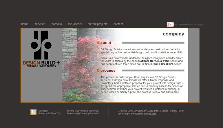 Dp Design Build Is A Professional Landscape And Outdoor Living Designer And Contractor Serving B Website Design Services Custom Website Design Custom Website