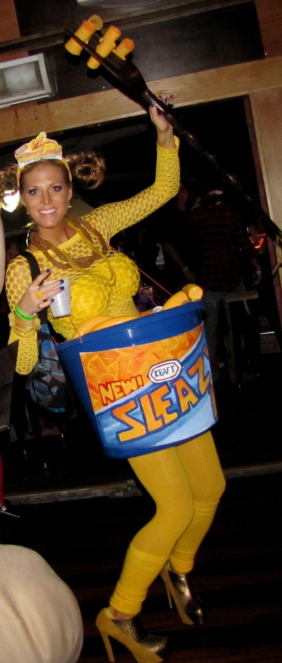 Homemade Sleazy Mac and Cheese Halloween costume