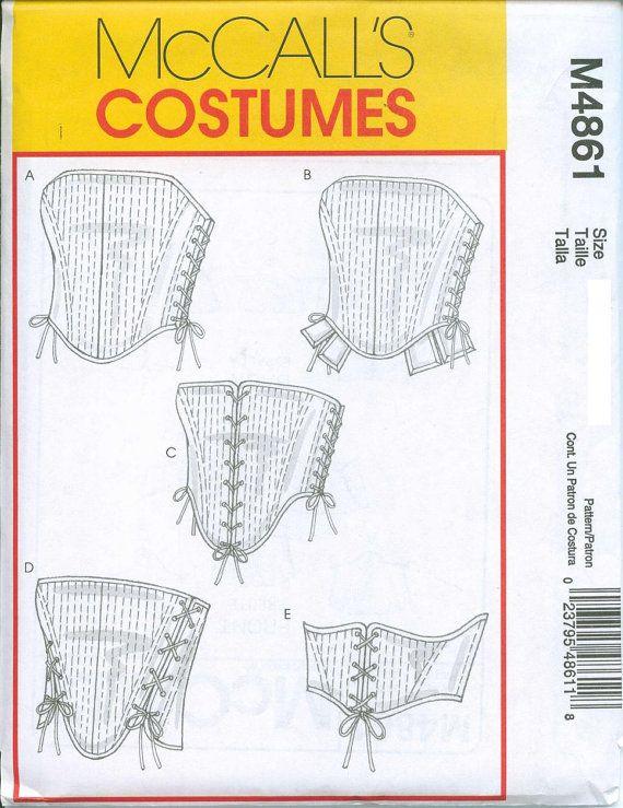 aca05c9637 Corset Stays Bodice Sewing Pattern Renaissance Medieval McCalls 4861Sizes  6-8-10-12.  5.00