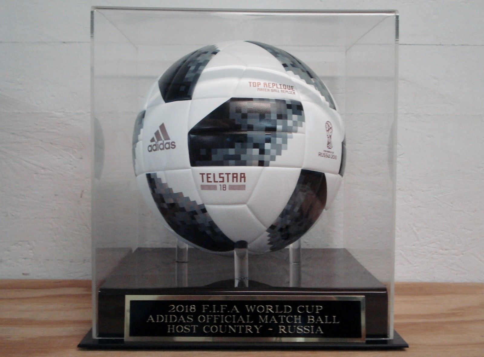 Soccer Ball Display Case With A 2018 Fifa World Cup Adidas Engraved Nameplate Discount Price 58 00 Free Shipping Buy Soccer Ball Fifa World Cup Display Case