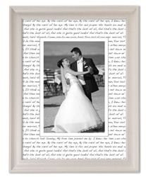 Create A Unique Frame By Writing The Lyrics Of Wedding Dance Song On
