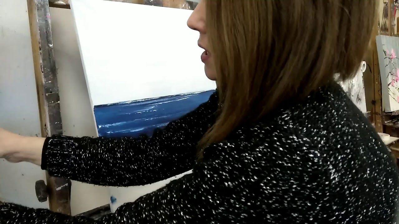 tuto peinture au couteau facile 39 le bord de mer technique peinture pinterest peinture. Black Bedroom Furniture Sets. Home Design Ideas