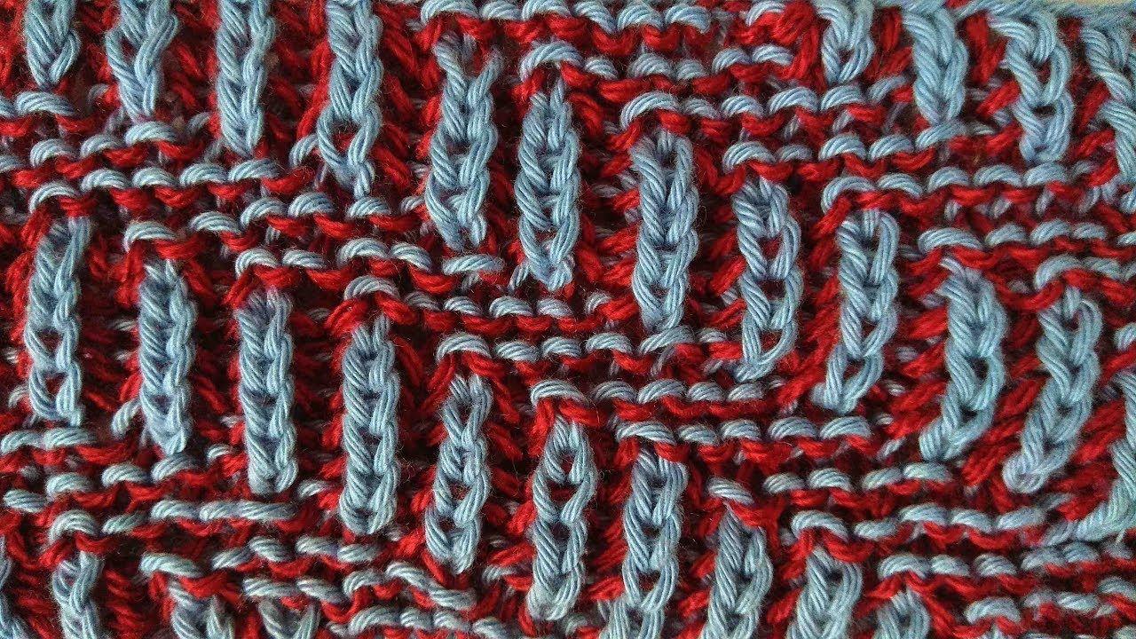 Diagonal, two-color brioche stitch knitting pattern + free chart ...