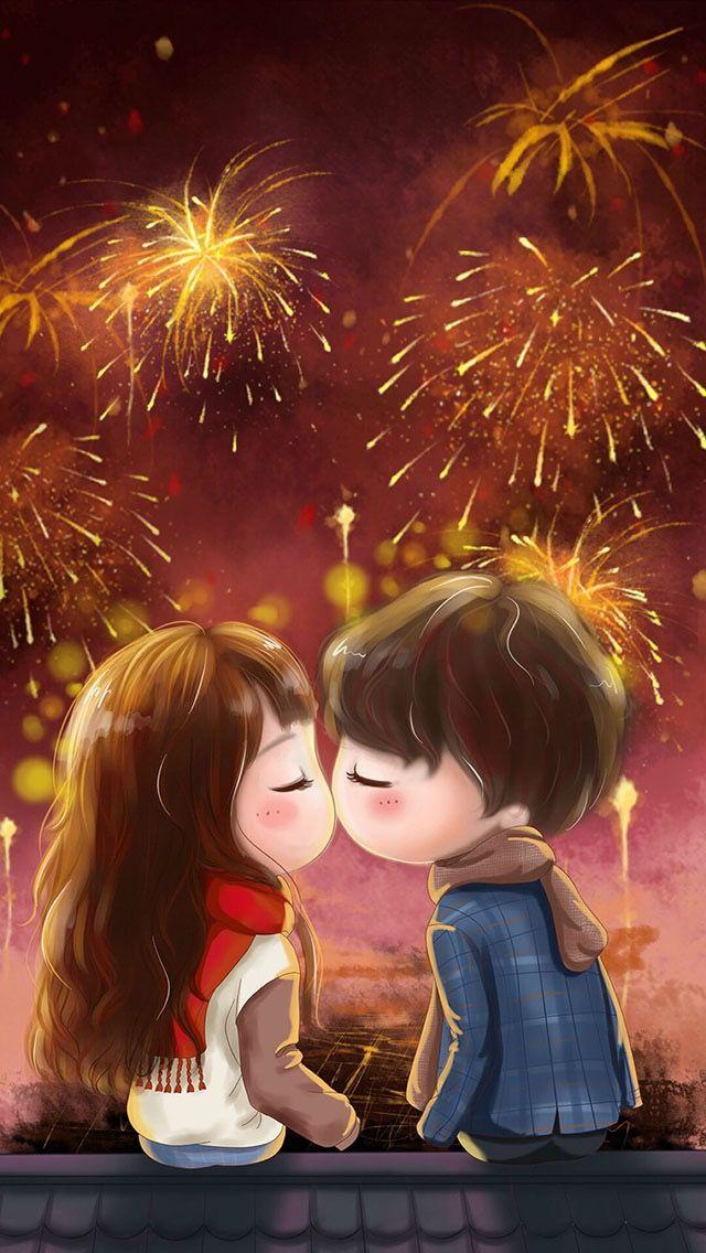 Happy New Year Cute Love Cartoons Cute Love Images Cute