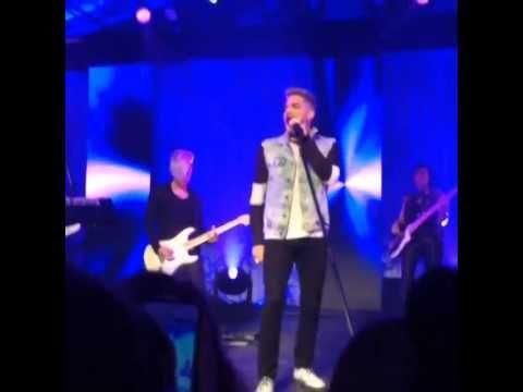 Adam Lambert singing Naked Love at private sweet 16 party (IG vid)