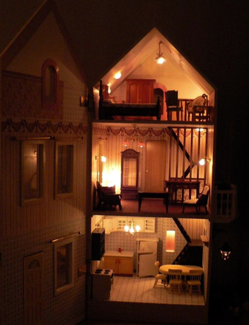 Doll House with Electric Lights & Doll House with Electric Lights | Vintage Miniatures | Pinterest ... azcodes.com