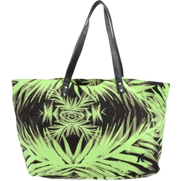 Hurley Handbag 1 345 Thb Liked On Polyvore Featuring Bags Handbags Acid Green Print Multi Color Man Bag Colored Purses And