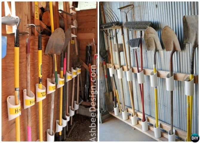 20 Diy Pvc Home Organizing And Decorating Projects Garden Tool