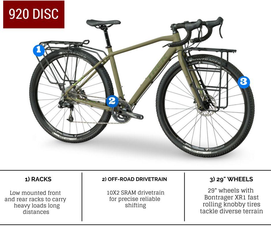 Trek Adventure 920 Disc Bicycle Bike Camping Adventure Bike