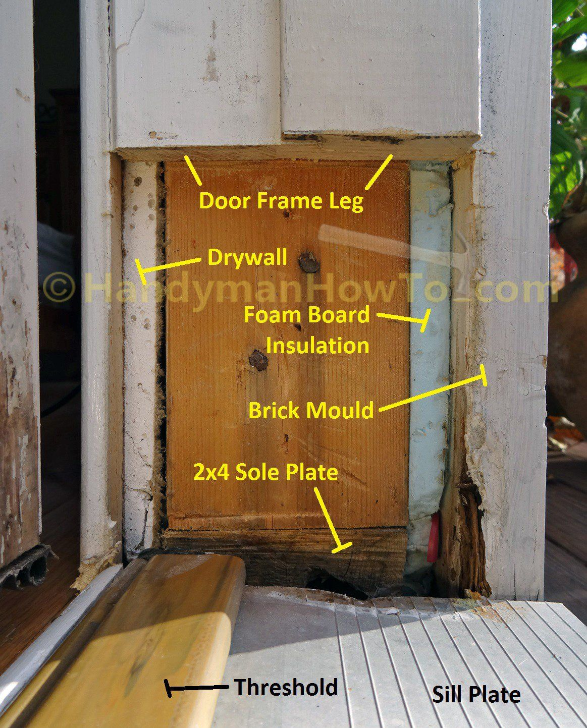 Door Frame Repair - Rotted Jamb Cut Out | Useful Tips | Pinterest ...