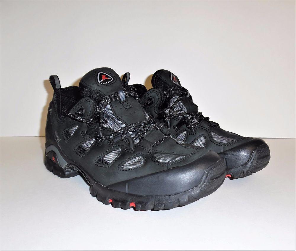 ECCO Gray Black Receptor Gore Tex Hiking Walking Shoe Men's EU 40L US 9-9.5
