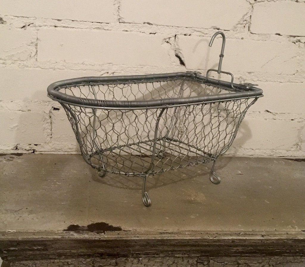 Chicken Wire Tub Soap Dish Bathroom Caddy Bathtub Towel Holder Home ...