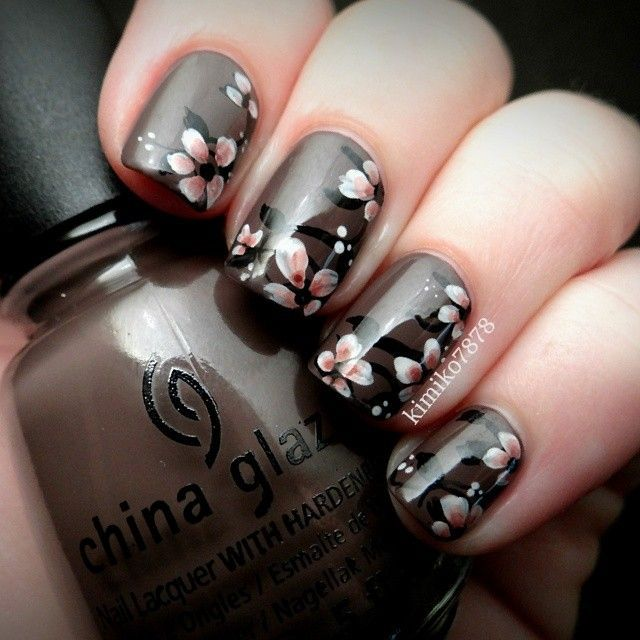 Image Via I Had This Fall Nail Art Design Burn A Hole In My