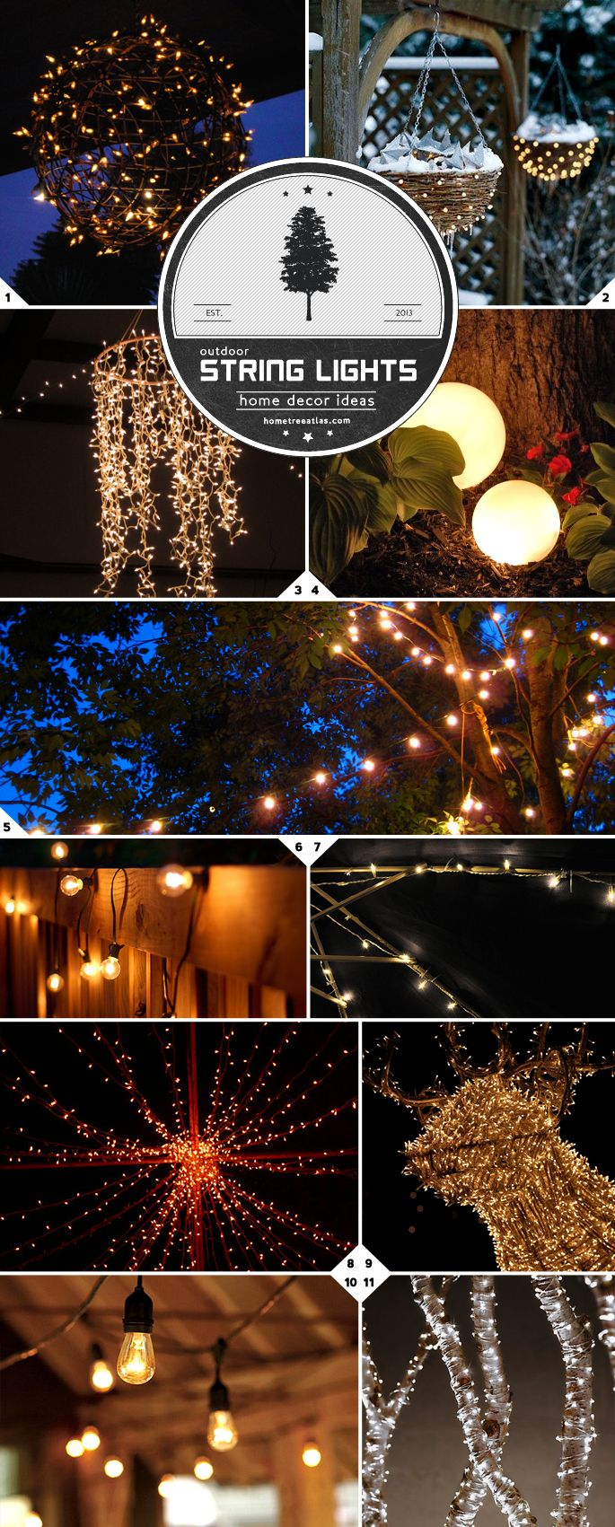 home decor ideas creative ways of using string lights outdoors