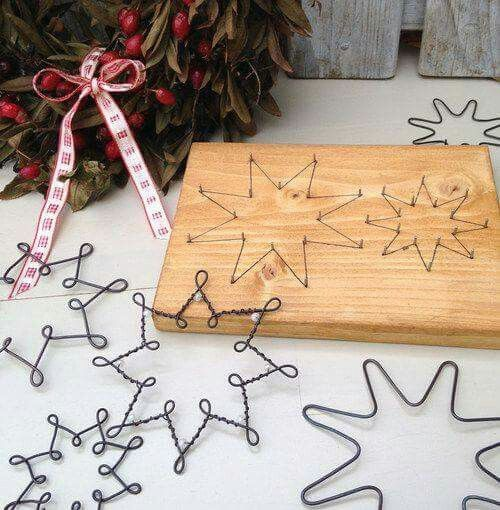 Photo of Original DIY Christmas ornaments and decoration made of thin wire