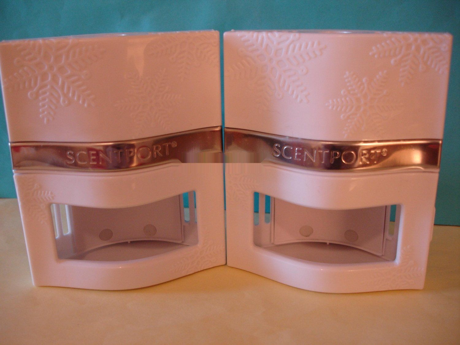 Bath and Body Works Scentport Unit    This is for 2 New Bath and Body Works Scentport Warmer UNIT in White, with Snowflakes Embossed on the Front as s