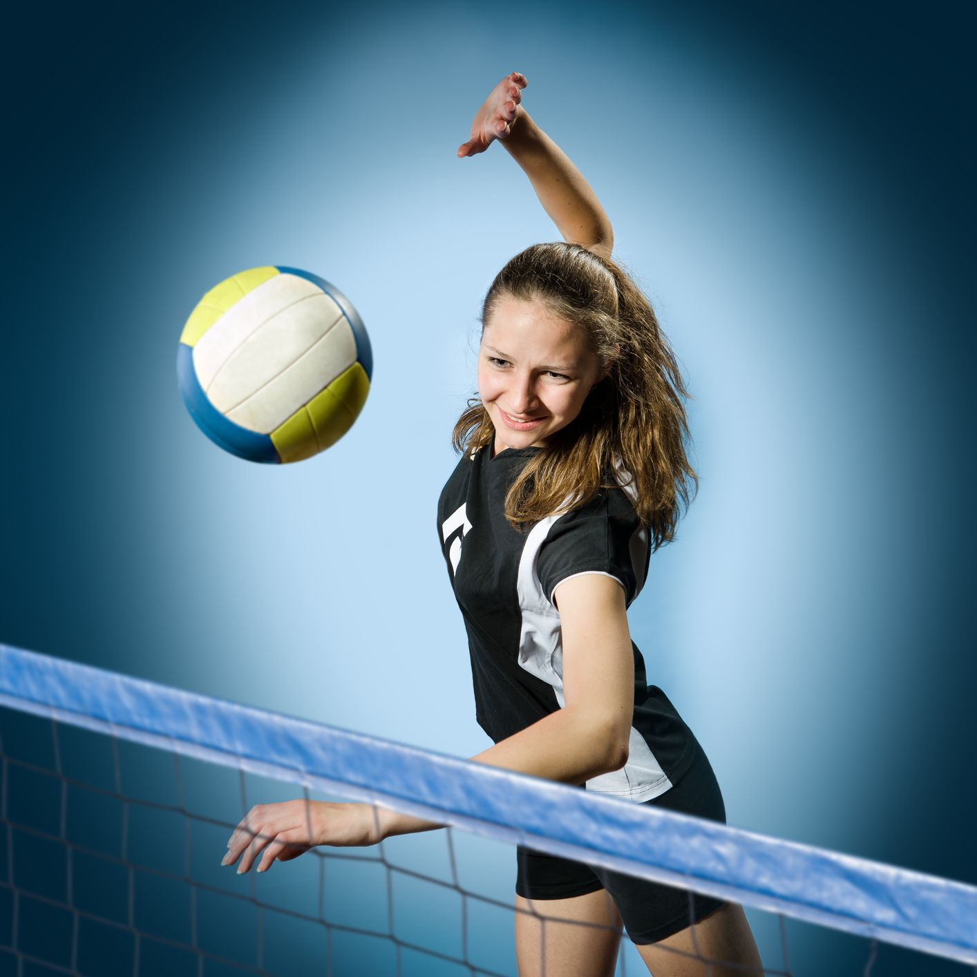 Female Volleyball Player With A Ball Photo By Val Th
