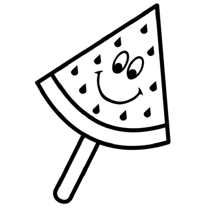 Watermelon Ice Cream Coloring Pages Ice Cream Coloring Pages