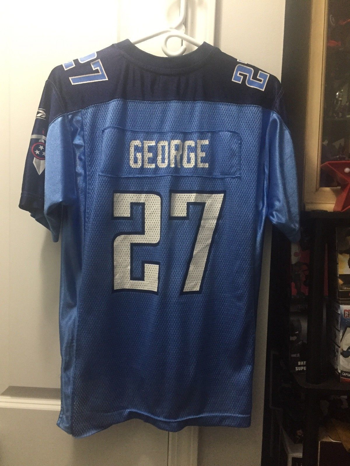 9d0dc68b Tennessee Titans - Eddie George - Youth Size Large 14-16 Reebok NFL ...