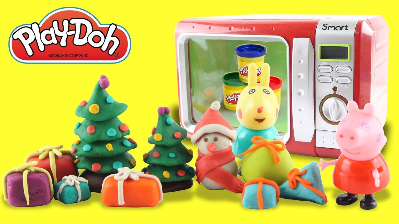 Learn Color Play Doh Food Cooking Microwave Gift And Noel Tree The Colorplay Decorates