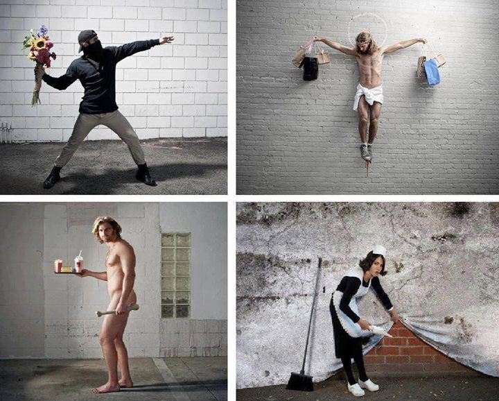 real life #Banksy by Nick Stern