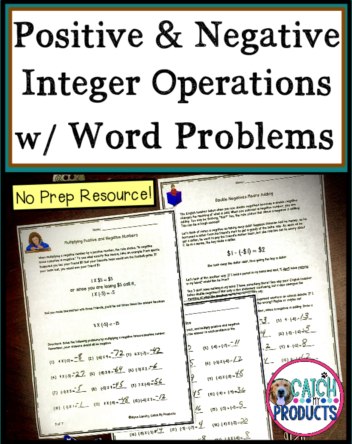 Positive And Negative Integers Operations And Word