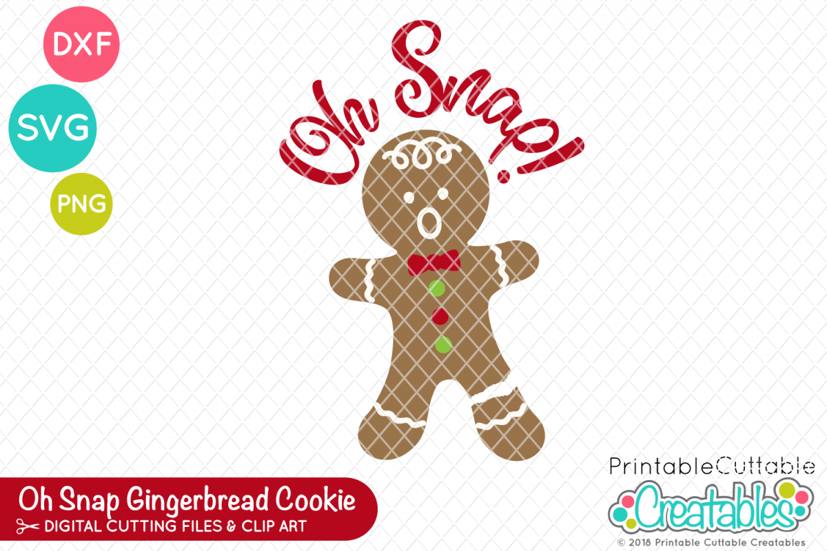 Oh Snap Gingerbread Cookie SVG Planner stickers