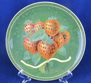 Raymond Waites Green Decorative Plate w Strawberries VGC Toyo Fruit Gold Trim | eBay  sc 1 st  Pinterest & Raymond Waites Green Decorative Plate w Strawberries VGC Toyo Fruit ...