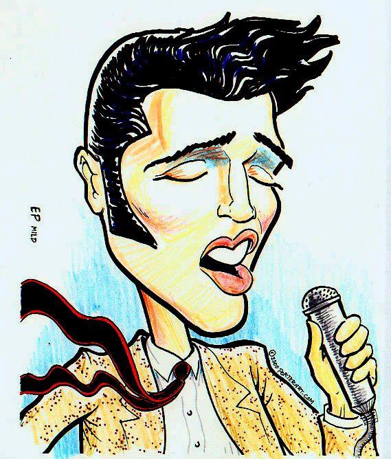 Elvis in his prime!  www.drawme.com