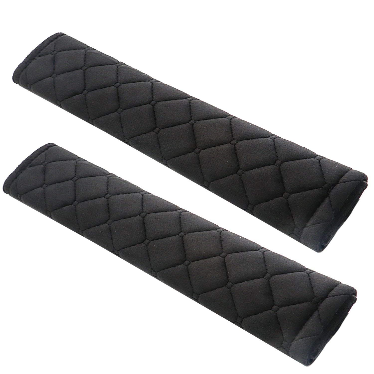2x Padded Car Seat Belt Pads Comfortable Harness Safety Shoulder Pads Cushion