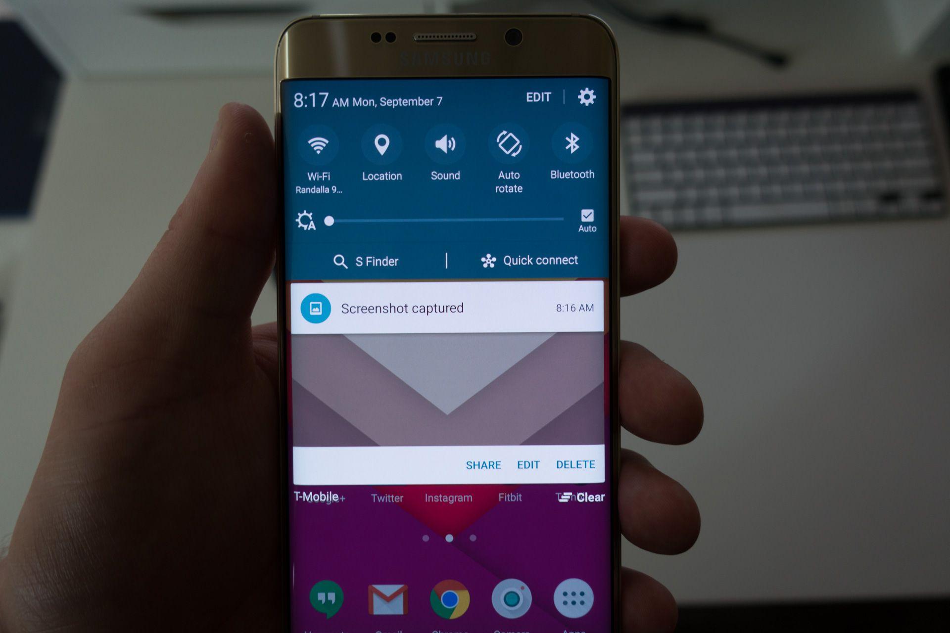 How To Screenshot On Samsung S6