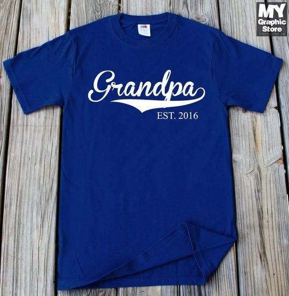 Photo of Grandpa EST Shirt Gift For Grandpa Fathers Day Gift T-Shirt Customized Any Year New Grandpa EST Tshirt Fathers Day Shirt Christmas Gifts