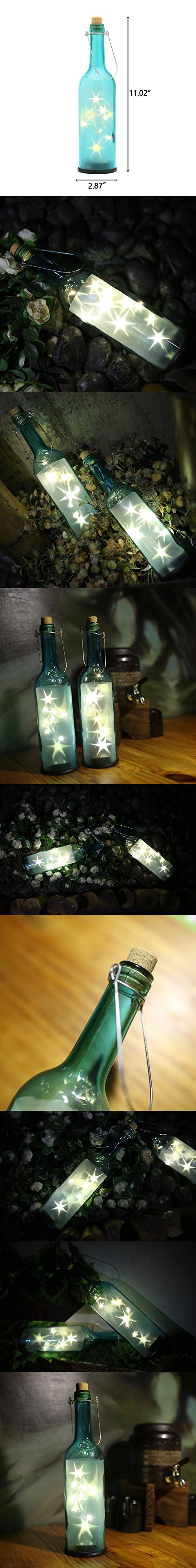 home wine room lighting effect. AceLife Wine Bottle Light Complete LED Starry String Lights Set With Blue Hexagram Effect For Home Room Lighting