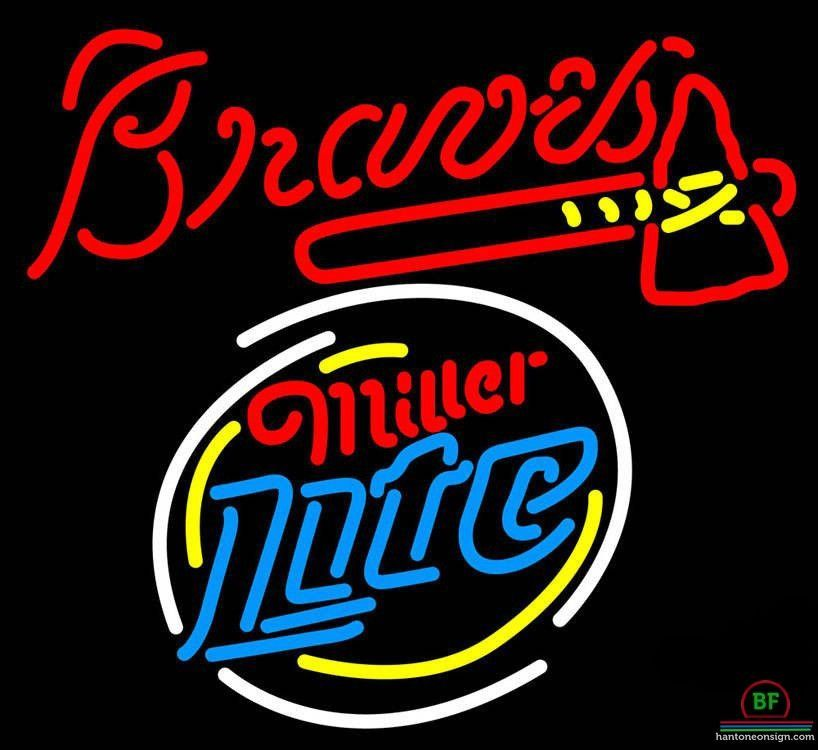 89e8b47b Miller Lite Atlanta Braves Neon Sign MLB Teams Neon Light | Products ...