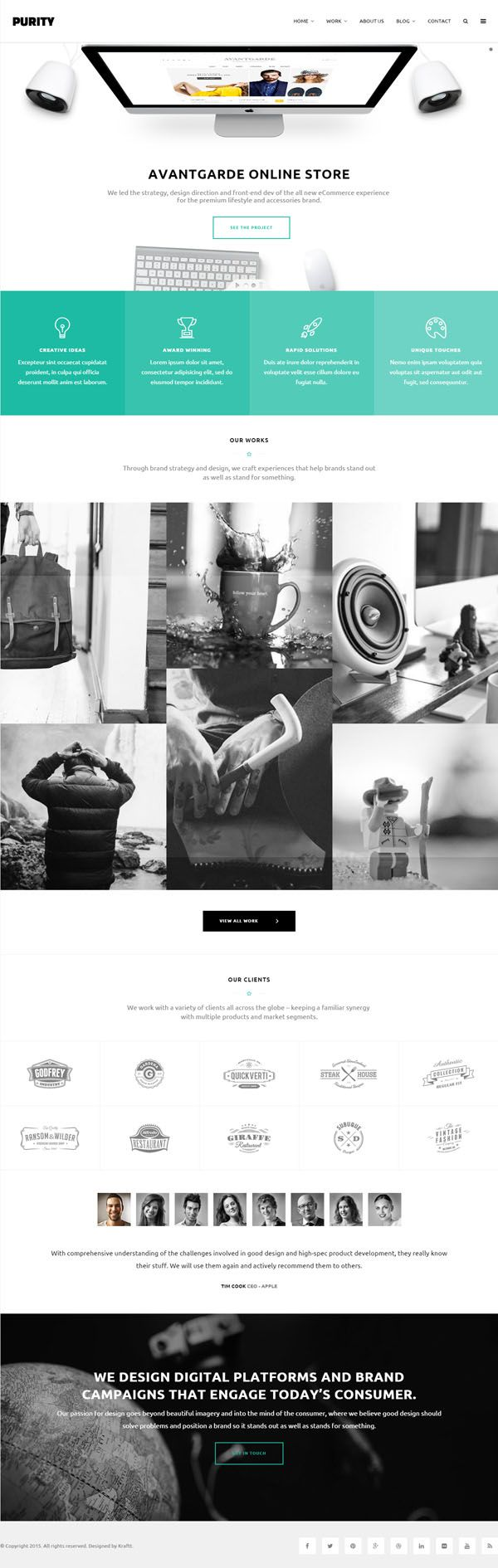 Purity - Responsive Multi-Purpose HTML Template #html5 ...