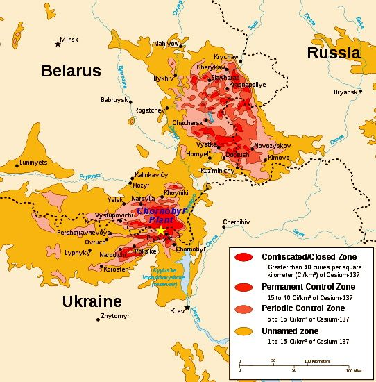 Chernobyl Radiation Levels Chernobyl Radiation Map Is Worse - Us radiation levels map